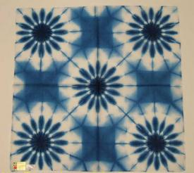 Shibori Snowflower Blue